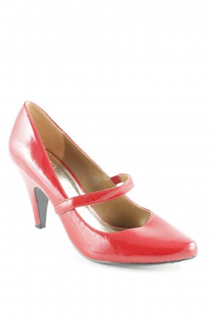 Zara Mary Jane Pumps red classic style