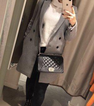 Zara Abrigo de piloto gris