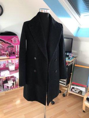 Zara Abrigo de lana negro