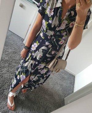 Zara  maxi langes Kleid  mit Blumenprint