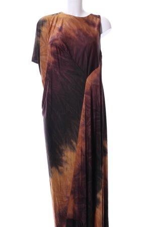 Zara Maxikleid braun-hellorange Farbverlauf Elegant