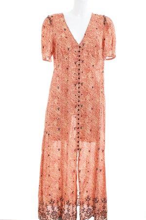 Zara Maxi abito motivo astratto stile casual