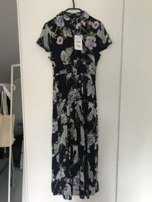 Zara Maxikleid  asiatisches Muster Blumen neu mit Etikett