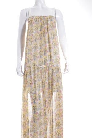 Zara Robe longue motif floral style hippie