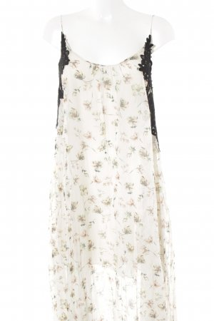 Zara Robe longue motif floral style romantique
