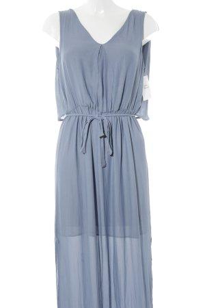 Zara Robe longue bleu azur style décontracté