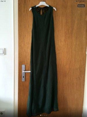 Zara Maxi abito verde scuro-verde bosco
