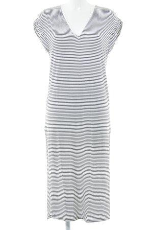 Zara Maxikleid weiß-schwarz Streifenmuster