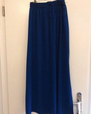 Zara Basic Falda larga azul