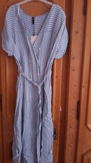 Zara  Mdikleid S Gestreift Kleid White Dress Bluse  Long Dress