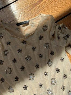 Zara Woman Netshirt beige