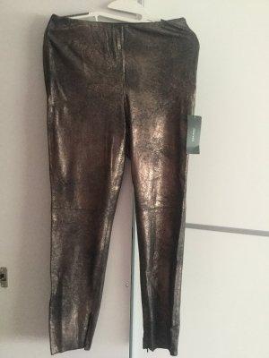 ZARA Metallic-Leggings aus Wildlederimitat Gr.M