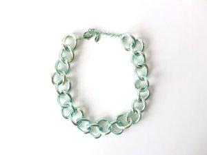 Zara metallic mint hellgrün Gliederkette  Kette
