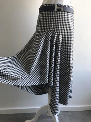 Zara Midi Rock Karo asymmetrischer Saum Gr. XL Neu mit Etikett