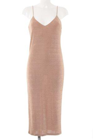 Zara Vestido a media pierna rosa empolvado look Street-Style