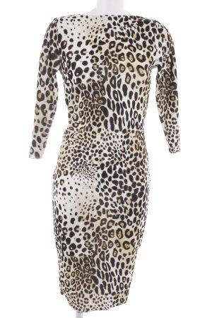 Zara Vestido a media pierna estampado de animales estampado animal