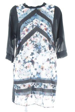 Zara Midikleid florales Muster Business-Look