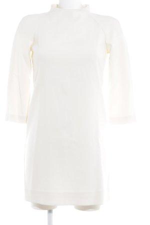 Zara Vestido a media pierna beige claro elegante