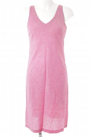 Zara Vestido a media pierna rosa look casual