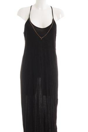 Zara Midi-jurk zwart casual uitstraling