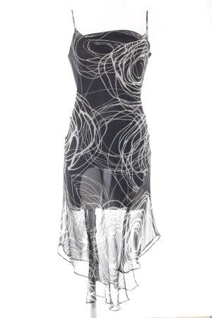 Zara Midikleid schwarz-wollweiß grafisches Muster Casual-Look