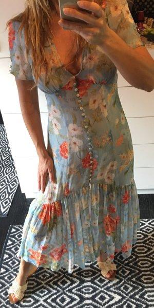 Zara Robe mi-longue multicolore