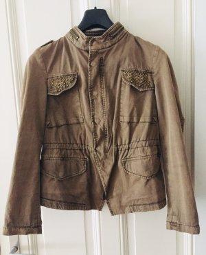 ZARA Military Jacke mit Metallbesatz und Reißverschlüssen Gr. S