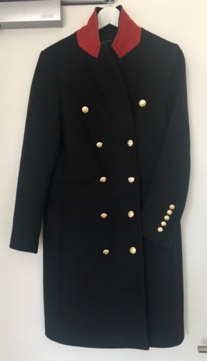 Zara Abrigo negro-carmín