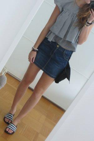 Zara mini Denimrock dunkelblau