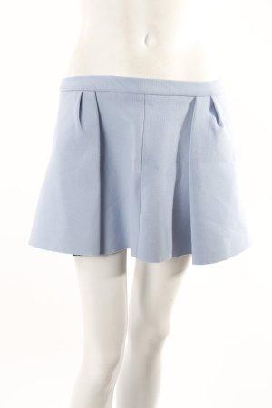 Zara Mini-Faltenrock himmelblau