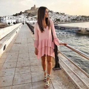 Zara Robe courte rosé-rose clair