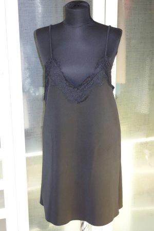 ZARA mini slip dress mit Spitze schwarz Gr.40