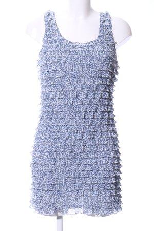 Zara Minikleid blau abstraktes Muster Casual-Look