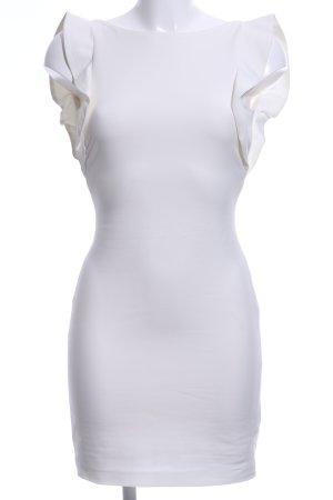 Zara Minikleid weiß Business-Look
