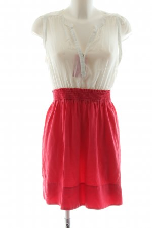 Zara Minikleid wollweiß-rot Casual-Look