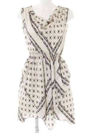 Zara Minikleid abstraktes Muster Casual-Look