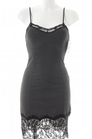 Zara Mini Dress anthracite-black flecked elegant