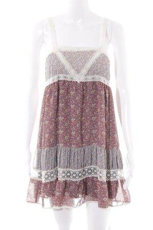 Zara Minikleid Blumenmuster Casual-Look