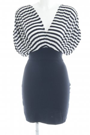 Zara Minikleid dunkelblau-weiß Streifenmuster Casual-Look
