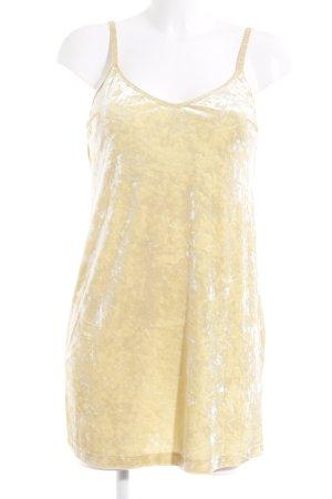 Zara Minikleid gelb meliert Party-Look