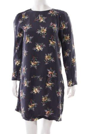 Zara Minikleid grau florales Muster
