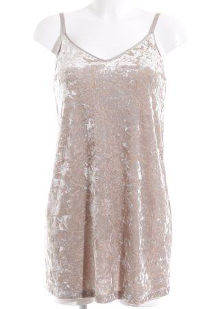Zara Minikleid graubraun meliert Party-Look