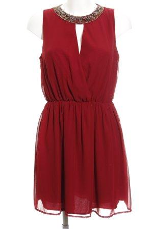 Zara Mini vestido carmín elegante