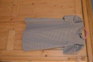 Zara Minikleid mit Pepitamuster und Puffärmeln