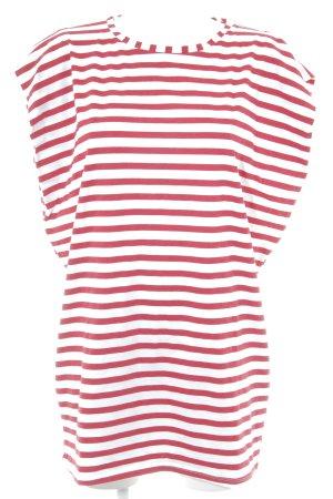 Zara Minikleid rot-weiß Streifenmuster Casual-Look