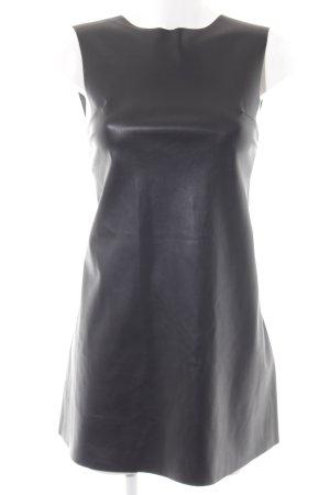 Zara Minikleid schwarz Biker-Look