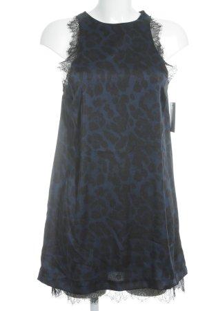Zara Mini Abito nero-blu scuro Stampa leopardata effetto bagnato