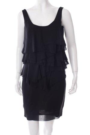 Zara Minikleid schwarz Lagen-Look