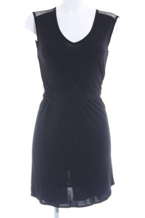 Zara Minikleid schwarz Netz-Optik