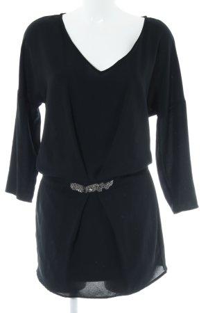 Zara Minikleid schwarz-silberfarben Elegant